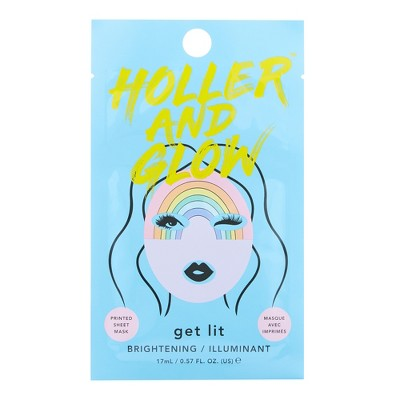 Holler And Glow Get Lit Facial Treatments  .57 Fl Oz by .57 Fl Oz