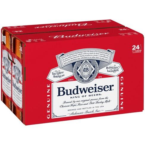 Budweiser Lager Beer - 24pk/12 fl oz Bottles - image 1 of 3
