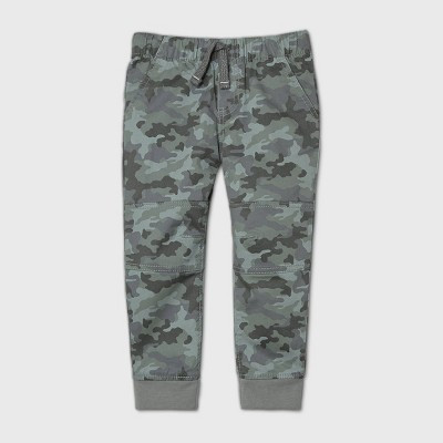 Toddler Boys' Woven Pull-On Pants - Cat & Jack™ Camo 4T