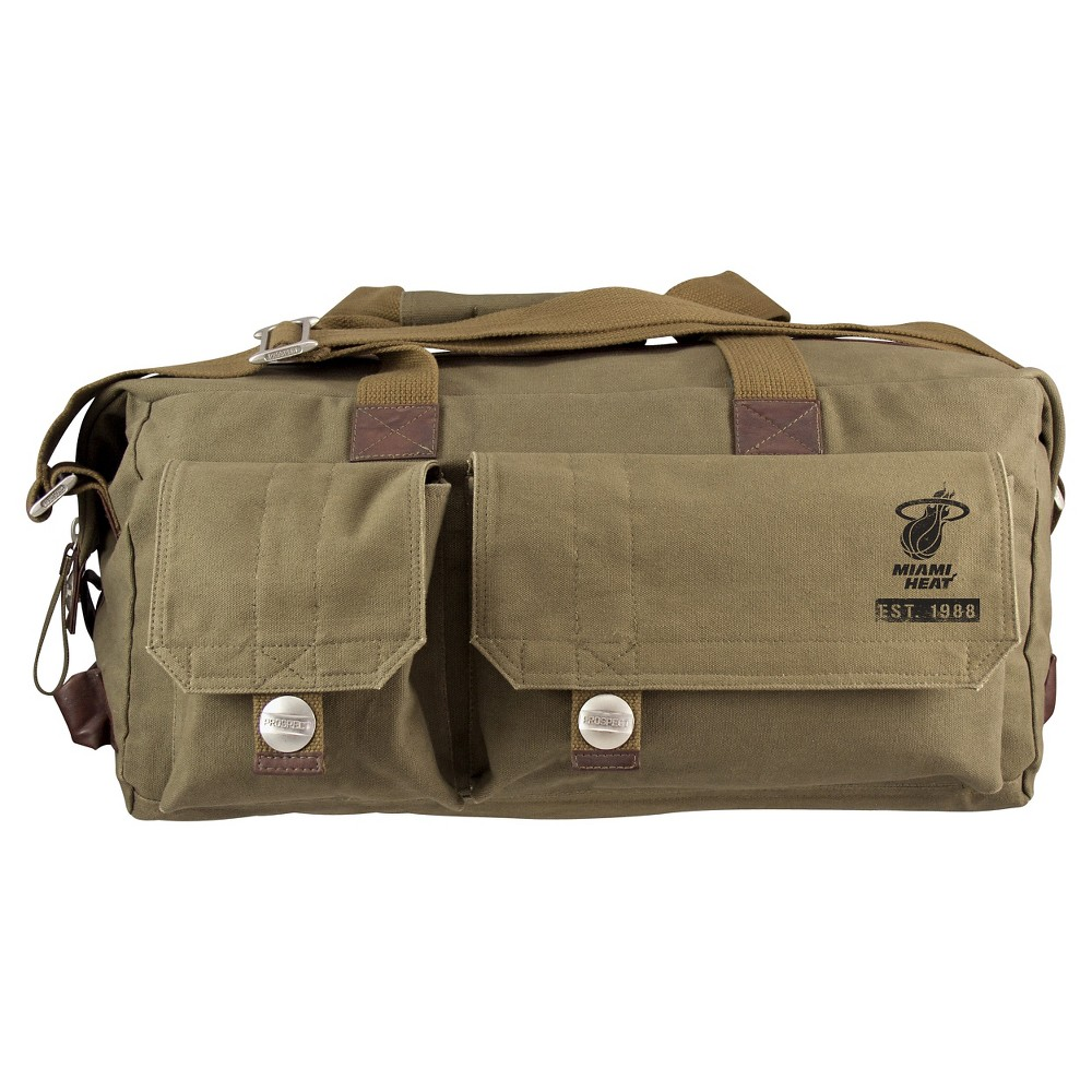 Miami Heat Little Earth Large Prospect Weekender Bag, Olive Drab