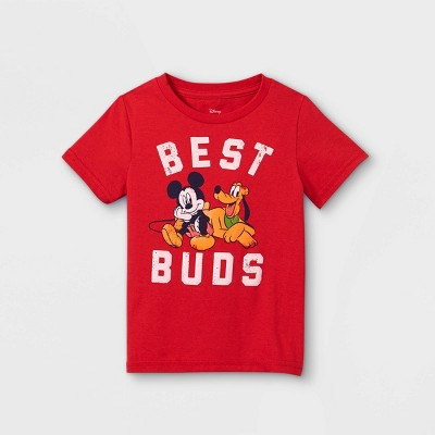 Toddler Boys' Disney Mickey Mouse & Friends Best Buds Short Sleeve Graphic T-Shirt - Red - Disney Store