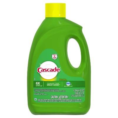 Cascade Gel Dishwasher Detergent Lemon Scent - 155oz