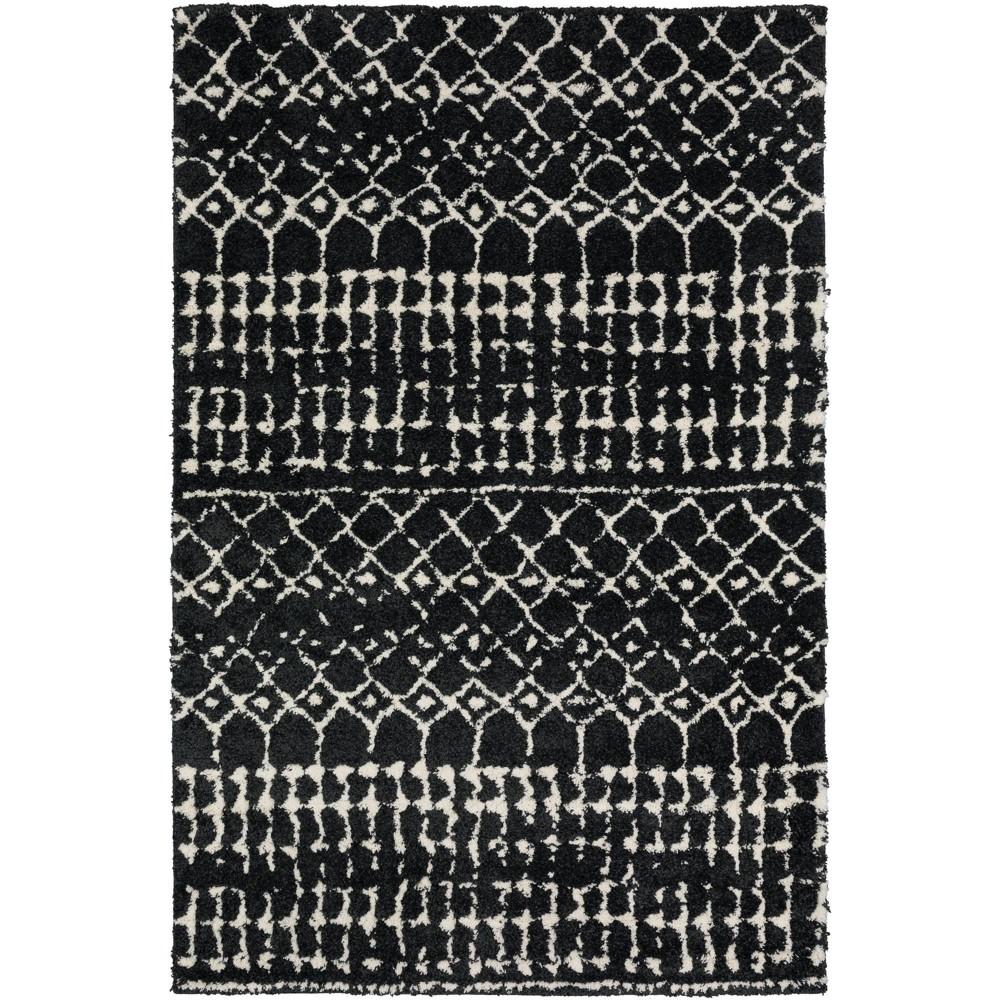9 39 10 34 X13 39 2 34 Lucienne Aztec Geometric Area Rug Black White Addison Rugs