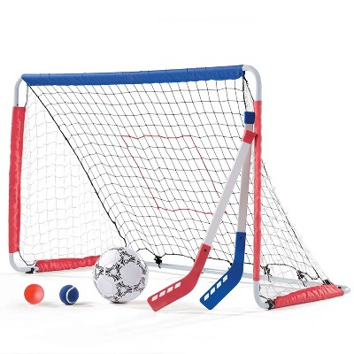 Step2 Kid Child Outdoor Kickback Soccer Hockey Training Goal and Pitchback Net
