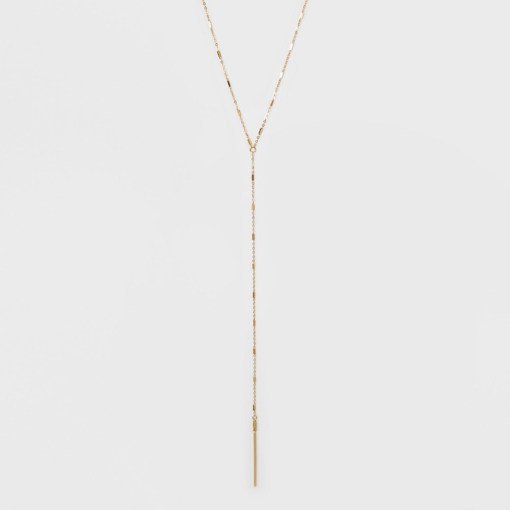 Baguette Stone and Bar Long Necklace - A New Day Gold