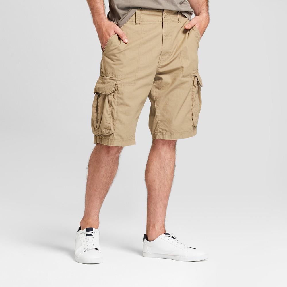 Men's 11 Ripstop Cargo Shorts - Goodfellow & Co Sculptural Tan 29