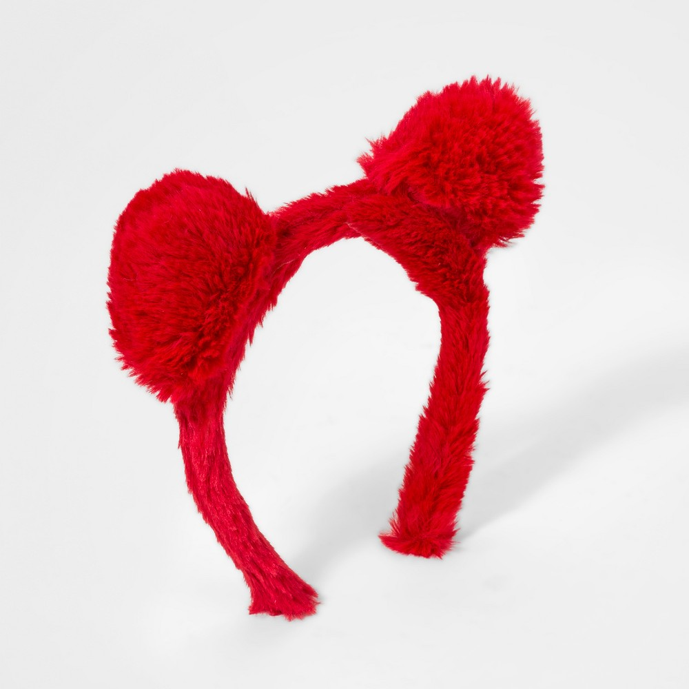 Girls' Faux Fur Cat Ears Headband - Cat & Jack Red