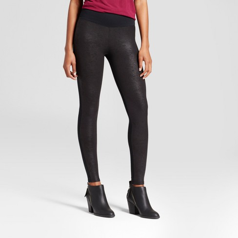 Assets by Spanx Women's Faux Leather Front Legging - image 1 of 2