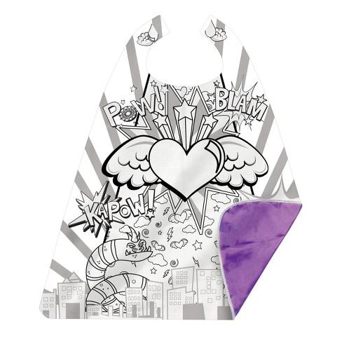 Great Pretenders Colour-A-Cape - Heart Hero - image 1 of 1