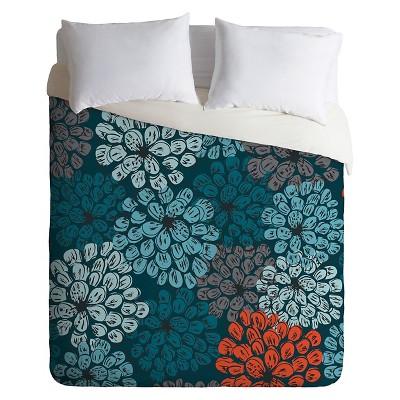 Khristian A Howell Greenwich Gardens Lightweight Duvet Cover Queen Blue - Deny Designs®