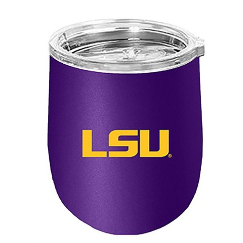 NCAA LSU Tigers 14oz Matte Stainless Steel Wine Tumbler - image 1 of 1