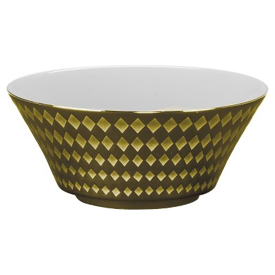 10 Strawberry Street® Cairo Porcelain Bowl 16oz Gold - Set of 6