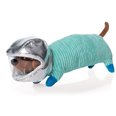 """Manhattan Toy Space Dog Stuffed Animal with Removable Helmet 13"""" Long Plush Toy"""