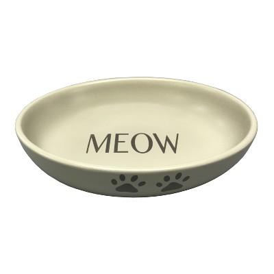 Icon Ceramic Cat Dish - Cream - 2 Cups - Boots & Barkley™