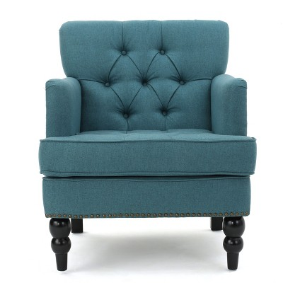 Malone Club Chair - Dark Teal - Christopher Knight Home