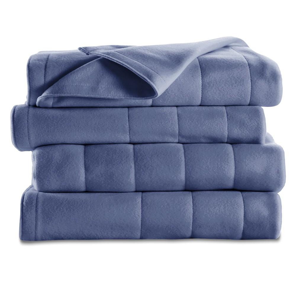 Quilted Fleece Electric Blanket (King) Blue - Sunbeam