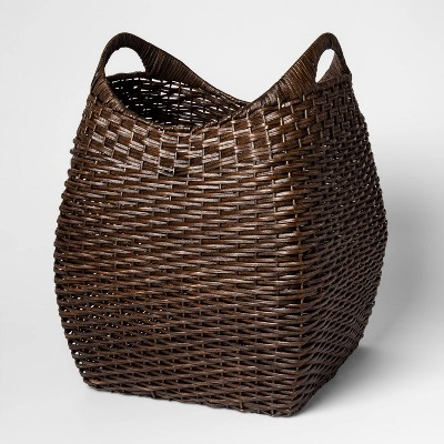 Large Basket with Curved Handle Brown 19.75 x15.75  - Threshold™