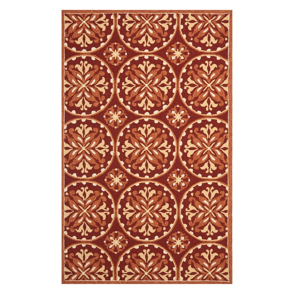 8'X10' Medallion Area Rug Red/Orange - Safavieh
