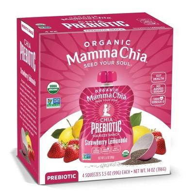 Mamma Chia Strawberry Lemonade Squeeze Vitality Snack - 4ct