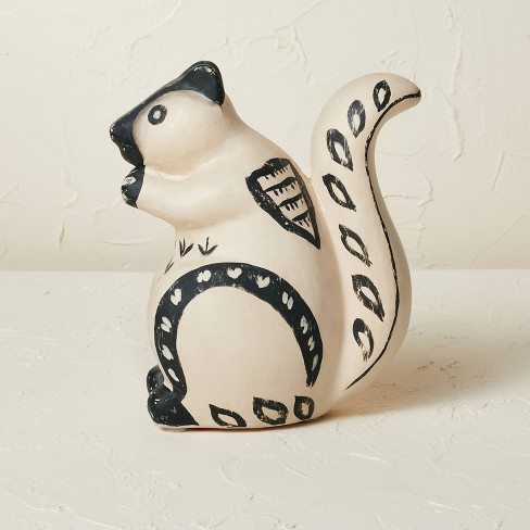 """7"""" x 6"""" Terracotta Squirrel Figurine Beige - Opalhouse™ designed with Jungalow™ - image 1 of 4"""