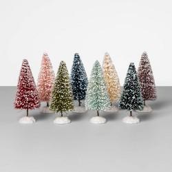 "5"" x 2.7"" 8pk Bottle Brush Christmas Tree Set - Opalhouse™"