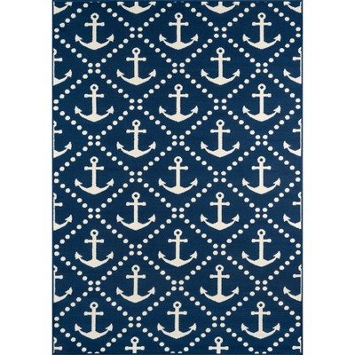 Anchor Trellis Rug - Navy - (1'8 x3'7 )