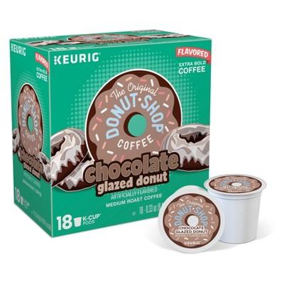 The Original Donut Shop Chocolate Glazed Donut Medium Roast Coffee - Keurig K-Cup Pods- 18ct