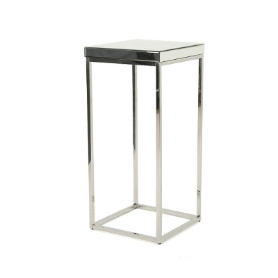 Callia Industrial Mirrored Side Table Clear - Christopher Knight Home