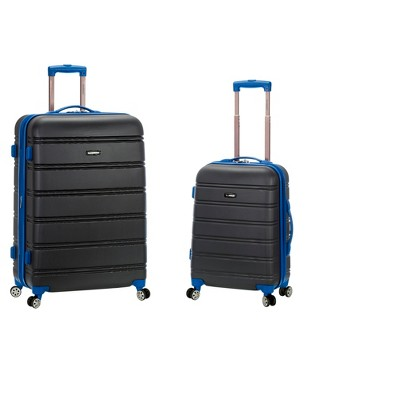 Rockland 2pc Expandable ABS Spinner Luggage Set - Gray