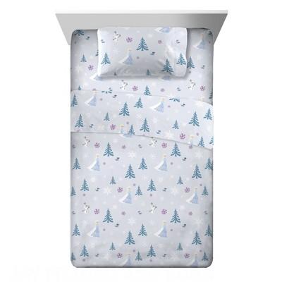 Twin Frozen Flannel Sheet