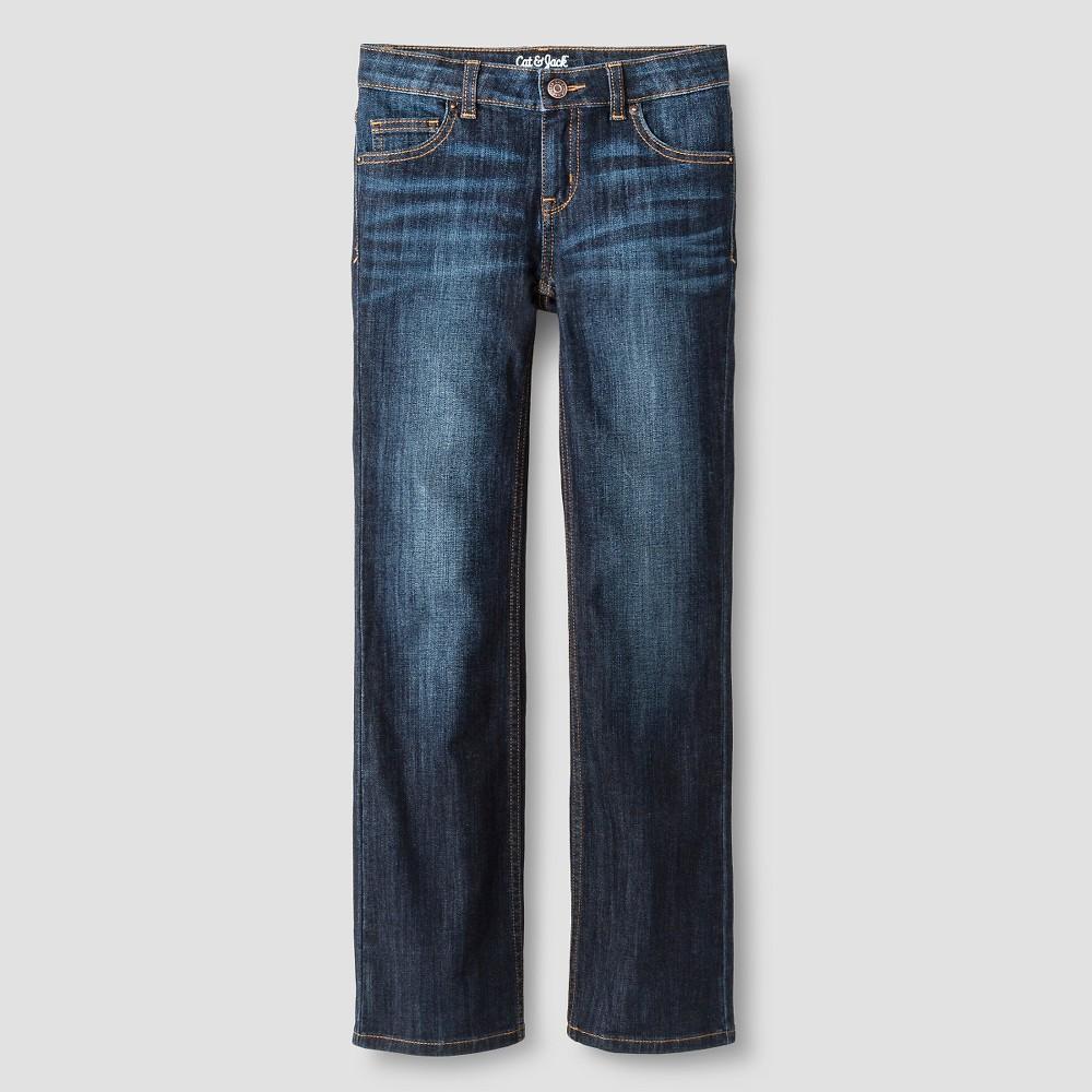 Girls' Bootcut Jeans - Cat & Jack Dark Wash 12, Blue