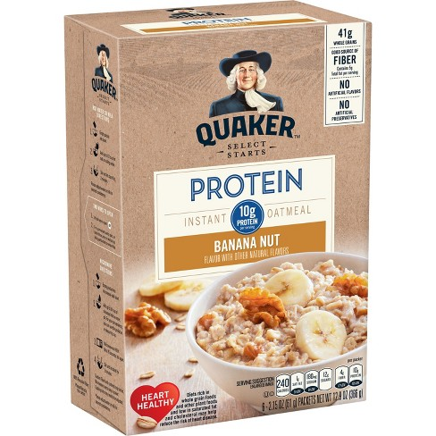 quaker instant oatmeal protein banana nut 6ct target