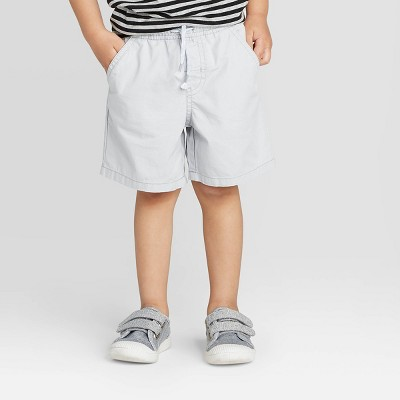 Toddler Boys' Twill Pull-On Shorts - Cat & Jack™ Gray 12M