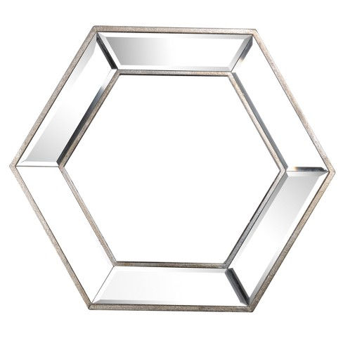 Hexagon Decorative Large Wall Mirror Clear - A&B Home - image 1 of 3