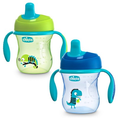 Chicco First Spout Trainer Portable Drinkware Sippy Cup - Blue - 2pk/7oz Each