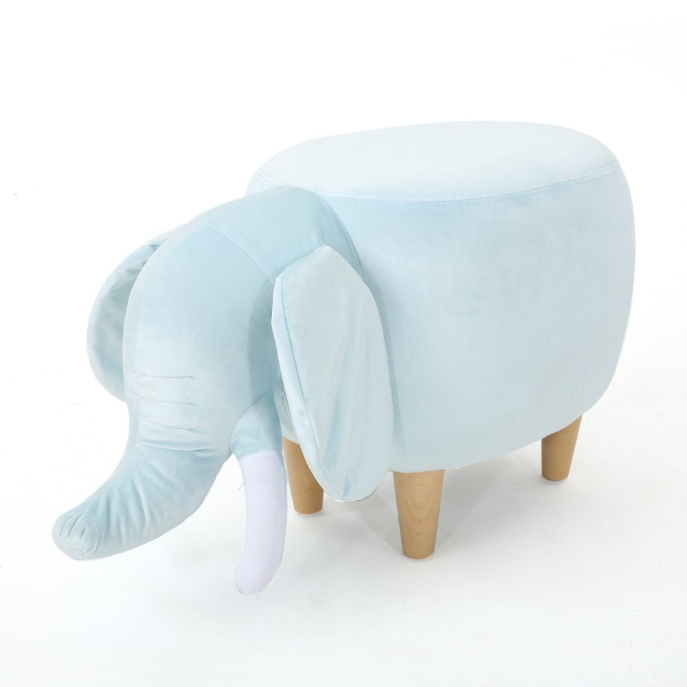Rosie Elephant Ottoman Light Blue - Christopher Knight Home