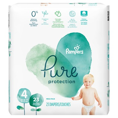 Pampers Pure Protection Diapers Mega Pack - Size 4 (23ct)