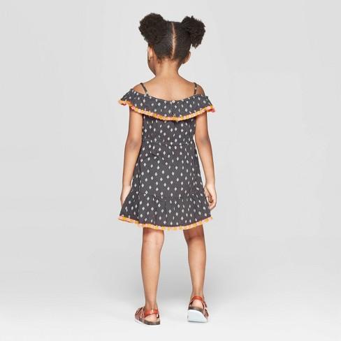 8f4a64e8344 Toddler Girls   Diamond  Shift Dress - Art Class™ Black 4T   Target