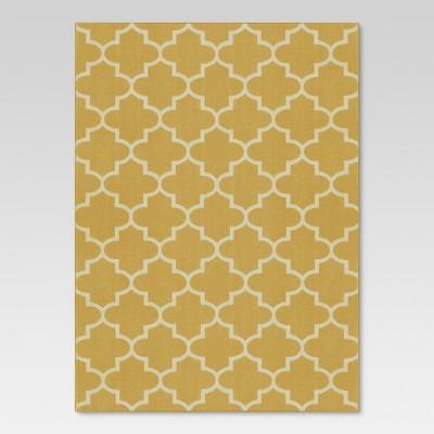 7'x10' Quatrefoil Design Area Rug Gold - Threshold™