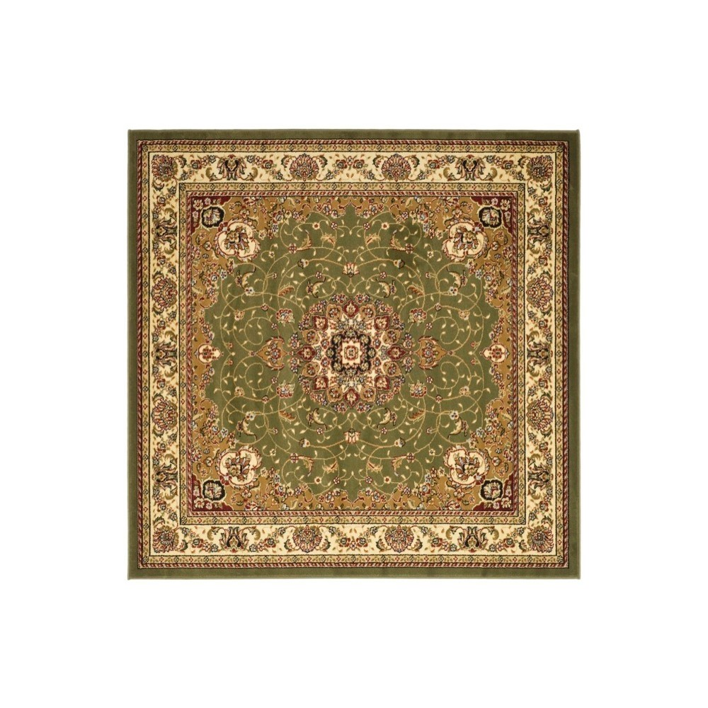 Sage/Ivory (Green/Ivory) Floral Loomed Square Area Rug 8'X8' - Safavieh
