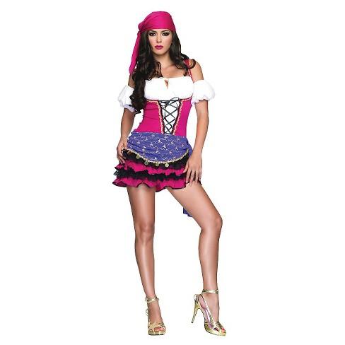 women s crystal ball gypsy costume target