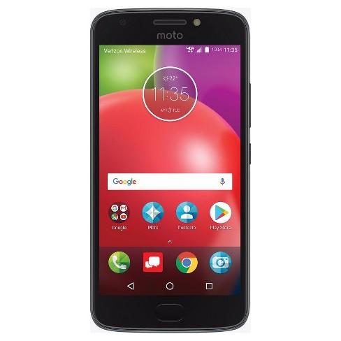 Verizon Prepaid - Motorola E4 - 4G with 16GB memory - Black