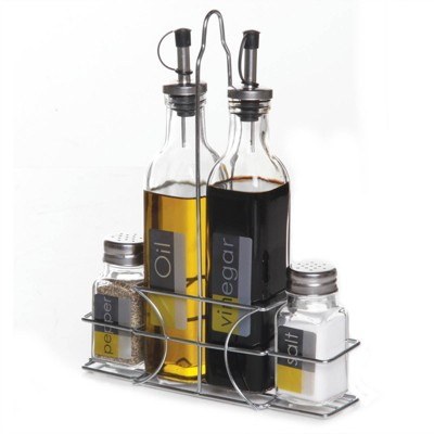 Gibson Home 9pc Glass Condiment Set