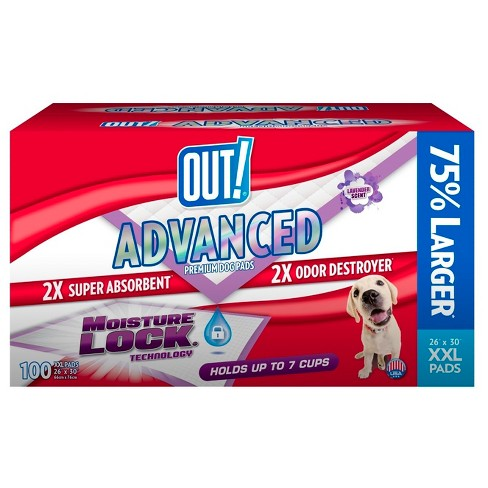 OUT! Advanced Dog Training Pads -100ct - XXL - image 1 of 1
