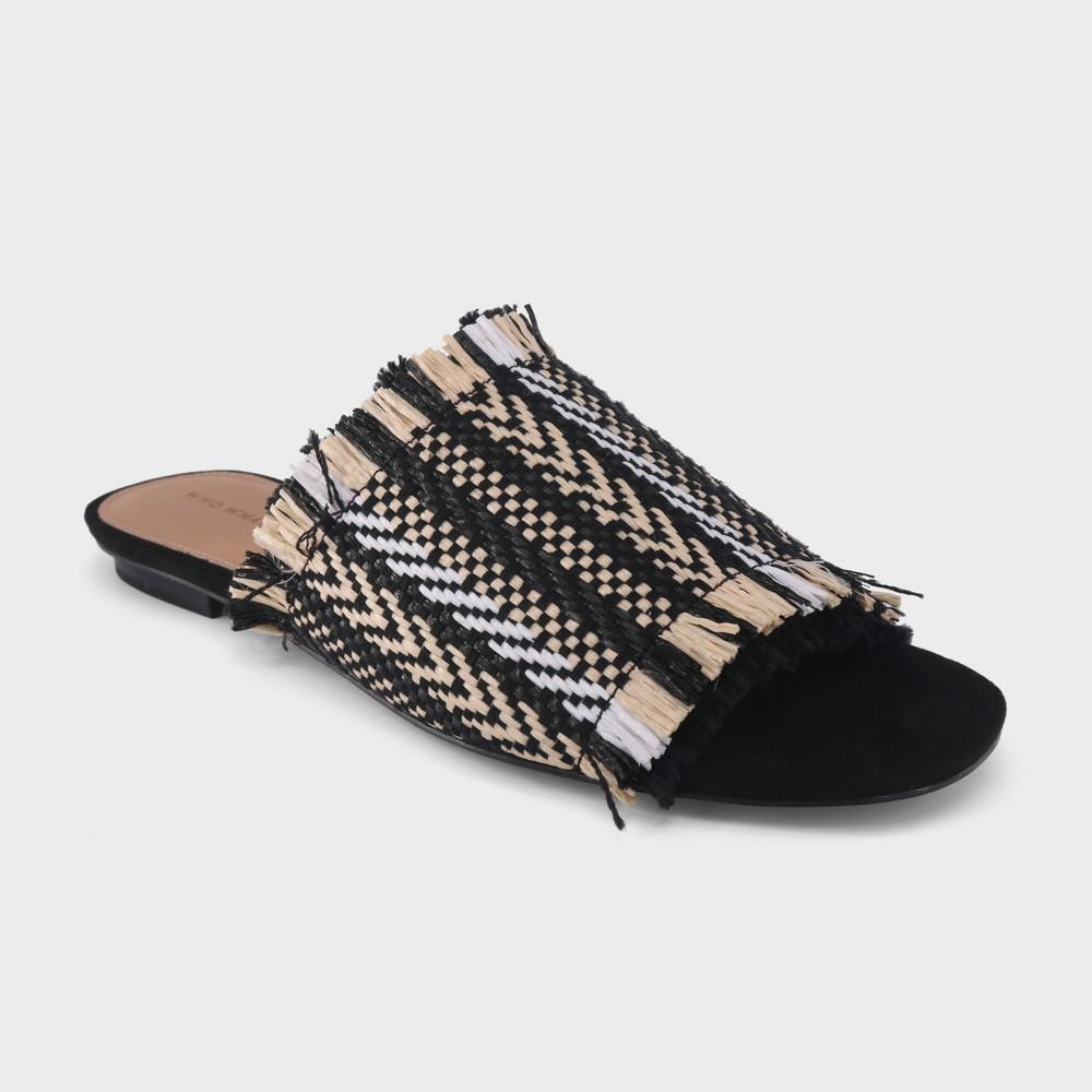 Women's Brielle Slide Sandal - Who What Wear Black 8.5