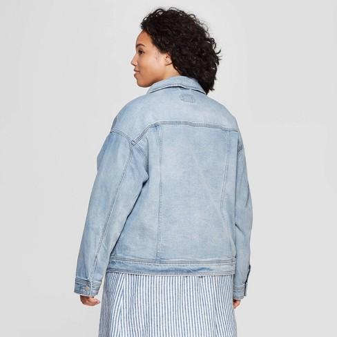 6a55c5b195 Women s Plus Size Denim Jacket - Universal Thread™ Light Blue   Target