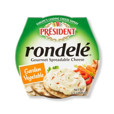 President Rondele Gourmet Spreadable Cheese Garden Vegetable - 6.5oz
