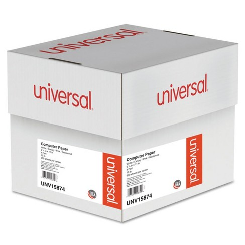 Universal® Multicolor Paper, 4-Part Carbonless, 15lb, 9-1/2 x 11, Perforated, 900 Sheets (15874) - image 1 of 2