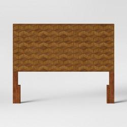Queen Tachuri Geometric Front Headboard Brown - Opalhouse™