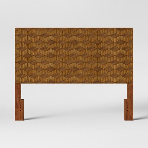 Queen Tachuri Geometric Front Headboard Brown - Opalhouse™ - image 1 of 5